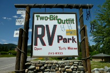 Two bit Outfit RV Park Entry Sign